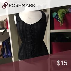 Express top Black express top with small waist Express Tops Blouses