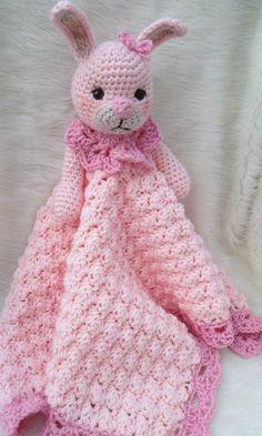 Bunny Huggy Blanket Crochet Pattern by Teri Crews by WoolandWhims, $4.95