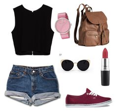 """""""Untitled #25"""" by elisha-m-ronald on Polyvore featuring Zara, H&M, Una-Home, Marc by Marc Jacobs, MAC Cosmetics and Vans"""