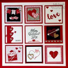 Happy Valentine's Day - Beth Daniels, Stampin' Up! Valentine Decorations, Valentine Crafts, Valentine Day Cards, Happy Valentines Day, Fall Craft Fairs, Valentines Frames, Box Frame Art, Christmas Frames, Frame Crafts