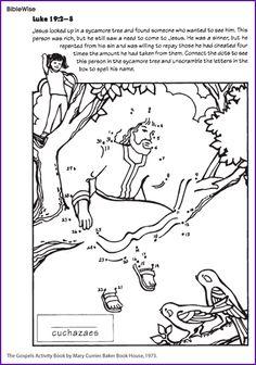Zacchaeus (Dot-to-Dot) - Kids Korner - BibleWise