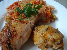 www.przepismamy.pl: Pałki z kurczaka pieczone na ryżu