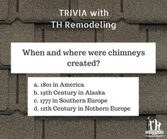 It's time for some trivia with TH Remodeling!  #THtrivia #triviawednesday #trivia #roofing