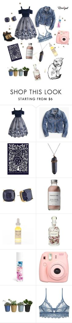 """""""Rosegal concours"""" by const0023 ❤ liked on Polyvore featuring J.Crew, Kate Spade, French Girl, Mullein & Sparrow, Blossom, Polaroid, Only Hearts, Paul Andrew and vintage"""