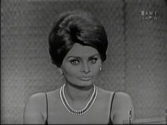What's My Line? - Sophia Loren; Johnny Carson [panel] (May 28, 1961) Starting at 18:05.