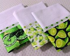 Kit 3 Panos de Prato Limões
