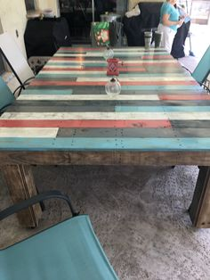 Pallet Table for outside!