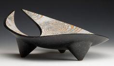 """James Whiting - Three-Legged Platter, 35cm/14"""" across"""