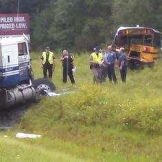 -- Seven students were taken to the hospital after a semi-truck smashed into the back of a school bus in Bradford County Monday afternoon, according to the Florida Highway Patrol. Parts Of The Eye, Expert Witness, Michael Williams, Winter Haven, Semi Trucks, Slammed, It Hurts, Monster Trucks, Florida