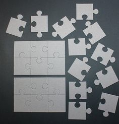 Puzzle piece centerpiece puzzle theme baby shower for Decoration or embellishment crossword