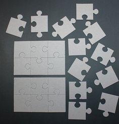 Puzzle piece centerpiece puzzle theme baby shower for Decoration or embellishment crossword