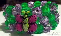 Child's Wrap Bracelet  Purple and Green by waterflowingwest, $4.00