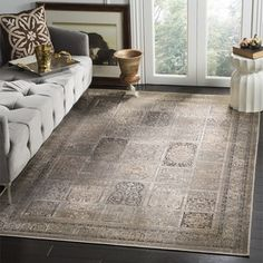 Shop for Safavieh Vintage Mouse Brown Distressed Panels Silky Viscose Rug (8'10 x 12'2). Get free shipping at Overstock.com - Your Online Home Decor Outlet Store! Get 5% in rewards with Club O! - 15439906