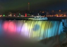 Niagra Falls.....so beautiful at night during the summer....so misty during the winter; make sure you wear a raincoat!
