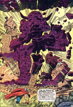 Jack Kirby's mature artwork Journey into Mystery 119 Temple of Darkness August 1965