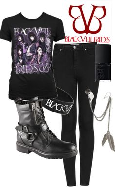 """Black Veil Brides outfit"" by erika-amicucci ❤ liked on Polyvore"