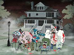 'Regular Zombies' Cartoon Show Parody 24x18 - Vinyl Print Poster