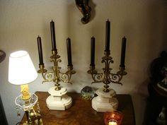 Kerzenhalter Louis - seize Kerzenständer Leuchter Kandelaber Beisteller um1870