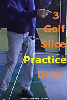 Golf Tips Learn the 3 most effective golf drills for curing your slice once and for all. Each drill takes less than 5 minutes and corrects the root cause of the slice (Hint: It's your swing). Cure your slice today even if you are a complete beginner. Golf Slice, Golf Handicap, Golf Bags For Sale, Golf Apps, Golf Pride Grips, Golfer, Public Golf Courses, Golf Drivers, Golf Tips For Beginners