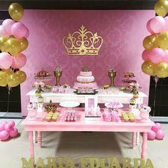 Bday Girl, 1st Birthday Girls, Princess Birthday, Princess Party, Baptism Party, Baby Party, Birthday Celebration, Birthday Parties, Royal Baby Showers