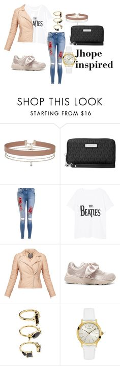 """BTS OUTFITS"" by btsmyhearteu on Polyvore featuring Miss Selfridge, Michael Kors, Violeta by Mango, MuuBaa, Puma, Noir Jewelry and GUESS"