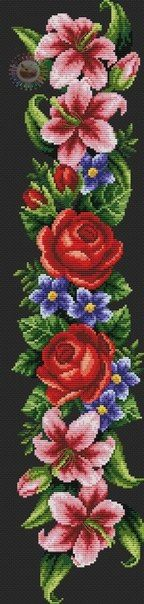 This Pin was discovered by Нат Cross Stitch Love, Cross Stitch Needles, Cross Stitch Borders, Cross Stitch Flowers, Cross Stitch Charts, Cross Stitch Designs, Cross Stitch Embroidery, Hand Embroidery, Cross Stitch Patterns