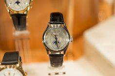 Vintage Patek Philippe 1591 perpetual calendar in stainless steel with luminous hands and dial