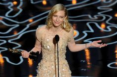 """Cate Blanchett gana Oscar a mejor actriz por """"Blue Jasmine""""  2014"""