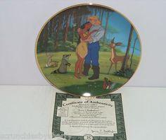 Disney Pocahontas Love's Embrace Collector Plate Bradford Exchange John Smith