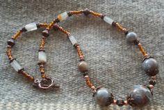 Vintage Dupont Lucite Bead Necklace by goosecrossingfarm, $36.00