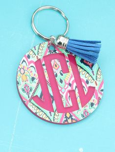 Personalized Lily Inspired 3 key chain Monogrammed by TGNCreations