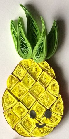 Pineapple   Paper Quilling Art  ----------------------------------- Facebook: Twists and Curls Unlimited  Instagram: twistsandcurlsunlimited Email Ad: twistsandcurlsunlimited@gmail.com