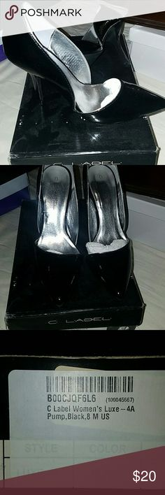 C label pumps 8 Cute patent label pumps. Worn once and are in excellent condition.  All offers are considered c label Shoes Heels