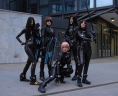Future, Futuristic, Cyberpunk, Cosplay, GANTZ Group Shooting, Future Fashion, Futuristic Look, Man in Black, Future Warriors, Girl in Black by FuturisticNews.com