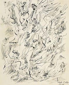 "1.6 Andre Masson, ""Automatic Drawing,"" 1925-6, ink on paper."