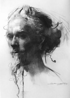 Zhaoming Wu—Head of a Bearded Man via Art of Darkness | ArtofDarkness.co