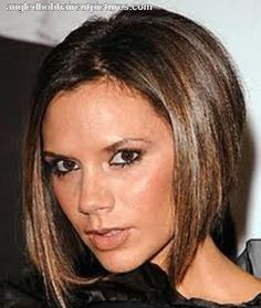Posh spice! My signature haircut and how my hair is now, except I'm working on growing out my side fringe! --R