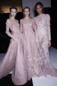 Manuela Frey, Sigrid Agren and Cindy Bruna Backstage at Elie Saab Haute Couture Spring 2014