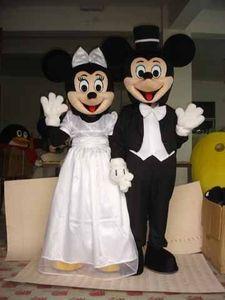 Wedding Cartoon costume character Disney mouse for costum,Plush dress mascot Mickey Minnie