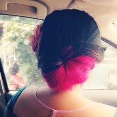 #magenta #ombre #hair #hairdo