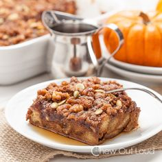 It's fall. You have to try this pumpkin french toast casserole.