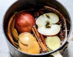 Simmer spices and fruits in your crock pot to get your house smelling like fall.