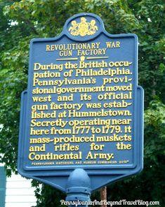Revolutionary War Gun Factory Historical Marker in Hummelstown Pennsylvania