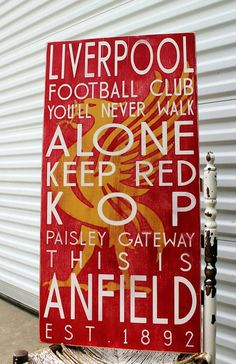 Liverpool Football Club Custom Sign Subway Sign by MadiKayDesigns