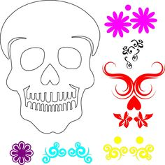 Sugar Skull 1 SVG Lady Wolf Blog.svg - File Shared from Box