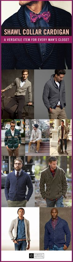 <The shawl collar cardigan is a versatile item that can dress up a casual outfit. You can also use it to transition a dressier outfit into a more casual look.>