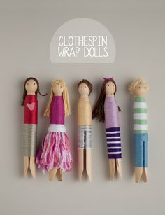 Clothespin Wrap Dolls