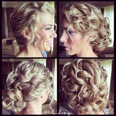 Curly updo/ loose / romantic/ curly hair updo / bridesmaid hair / bridal hair