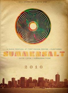 Summersalt Music Festival Poster. by BRIGHTANDBEYOOTIFUL