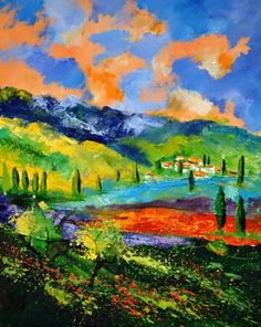 Provence 454190, painting by artist ledent pol